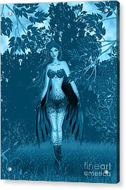 Fantasy Fairy Acrylic Print by Kriss Orayan