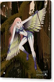 Fantasy Fairy2 Acrylic Print by Kriss Orayan