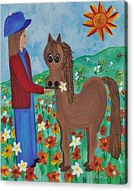 Fantasy Filly Acrylic Print by Barbara St Jean
