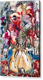Fantasy Floral 2 Acrylic Print by Carole Goldman