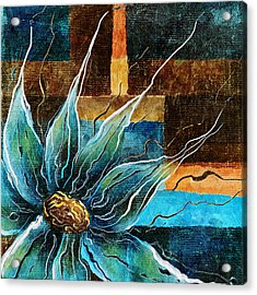 Fantasy Floral Abstract Acrylic Print