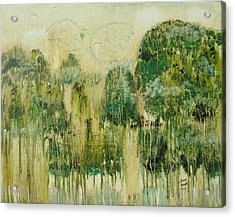 Acrylic Print featuring the painting Fantasy Forest by Diane Pape