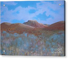 Acrylic Print featuring the painting Fantasy Hills by Suzanne McKay