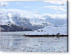 Fantasy In Ice Acrylic Print by Judith Russell-Tooth