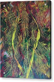 Acrylic Print featuring the painting Fantasy by Nico Bielow