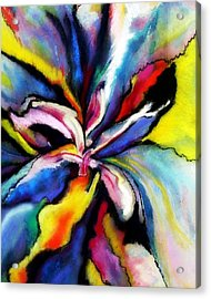 Acrylic Print featuring the painting Fantasy Orchid by Jodie Marie Anne Richardson Traugott          aka jm-ART
