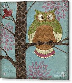 Fantasy Owls I Acrylic Print