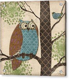Fantasy Owls II Acrylic Print