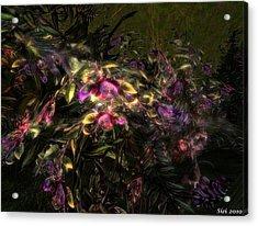 Acrylic Print featuring the digital art Fantasyflowers by Susanne Baumann