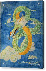 Acrylic Print featuring the painting Far East Wind Rider by Wendy Coulson