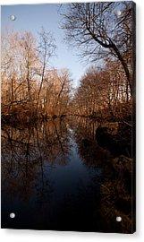 Far Mill River Reflects Acrylic Print by Karol Livote