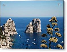 Acrylic Print featuring the photograph Faraglioni In Capri by Dany Lison