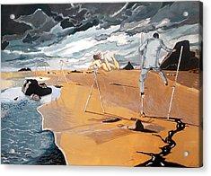 Acrylic Print featuring the painting Faraway Lejanias by Lazaro Hurtado
