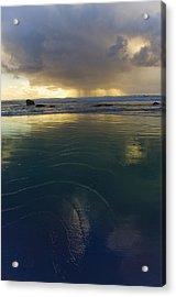 Acrylic Print featuring the photograph Faraway Rain by Adria Trail