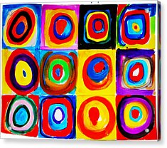 Farbstudie Quadrate Acrylic Print