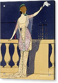 Farewell At Night Acrylic Print by Georges Barbier