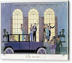 Farewell Acrylic Print by Georges Barbier
