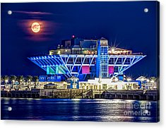 Farewell Moon Acrylic Print by Marvin Spates
