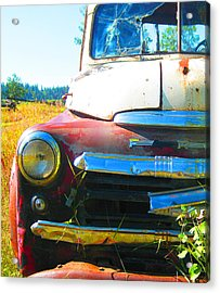 Fargo Red And White Acrylic Print