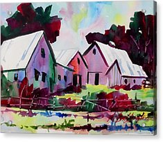 Farm Along Meridian Road Acrylic Print