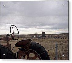 Farm Acrylic Print by Angela Stout