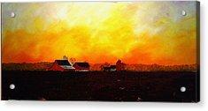 Farm At Dawn Acrylic Print