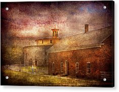 Farm - Barn - Shaker Barn  Acrylic Print by Mike Savad