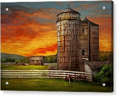 Farm - Barn - Welcome To The Farm  Acrylic Print by Mike Savad