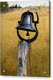 Acrylic Print featuring the painting Farm Bell by Tom Wooldridge
