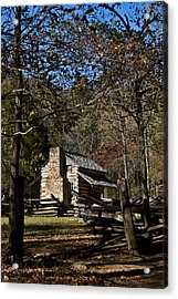 Farm Cabin Cades Cove Tennessee Acrylic Print by Douglas Barnett
