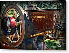 Farm Equipment - New Holland Feed And Cob Mill Acrylic Print by Paul Ward