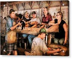 Farm - Farmer - By The Pound Acrylic Print by Mike Savad