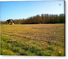 Farm Field With Old Barn Acrylic Print