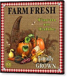 Farm Fresh-jp2384 Acrylic Print by Jean Plout