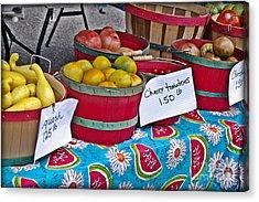 Farm Fresh Produce At The Farmers Market Acrylic Print by JW Hanley