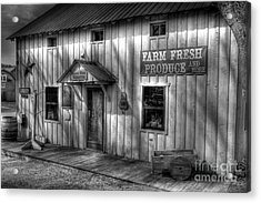 Farm Fresh Produce Bw Acrylic Print by Mel Steinhauer