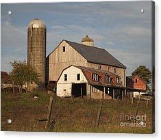 Farm House At Sundown Acrylic Print