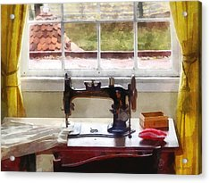 Farm House With Sewing Machine Acrylic Print by Susan Savad