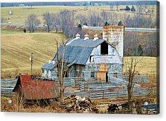 Farm In Virginia Acrylic Print by Cynthia Guinn