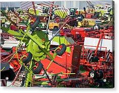 Farm Machinery Acrylic Print by Jim West