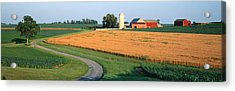 Farm Nr Mountville Lancaster Co Pa Usa Acrylic Print by Panoramic Images