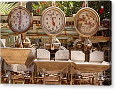 Acrylic Print featuring the photograph Farm Scales by Kerri Mortenson