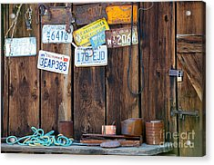 Acrylic Print featuring the photograph Farm Shed Memories by Vinnie Oakes