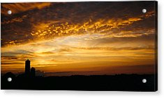 Acrylic Print featuring the photograph Farm Sunset by Peg Toliver