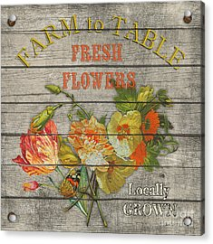 Farm To Table Flowers-jp2633 Acrylic Print by Jean Plout