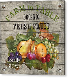 Farm To Table Fruit-jp2631 Acrylic Print by Jean Plout