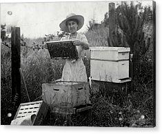 Farm Wife Beekeeper 19th Century Acrylic Print by Daniel Hagerman