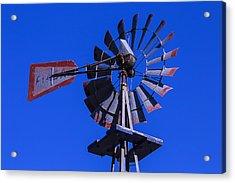 Farm Windmill Acrylic Print by Garry Gay