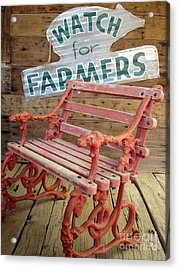 Acrylic Print featuring the photograph Farmer Bench by Kerri Mortenson