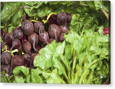 Farmers Market Beets And Greens Acrylic Print by Carol Leigh